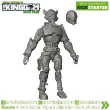 Animal Warriors of the Kingdom Boone 3D Sculpt - Surveillance Port (2)