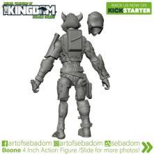 Animal Warriors of the Kingdom Boone 3D Sculpt - Surveillance Port (3)