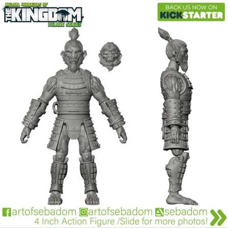Animal Warriors of the Kingdom Hideyoshi 3D Sculpt Turnaround - Surveillance Port (05)