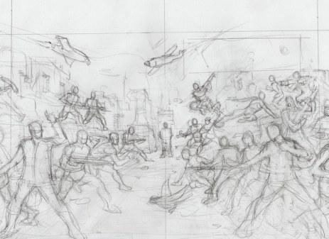 Eagle Force Handbook Cover Sketch - Surveillance Port