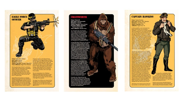 Eagle Force Handbook Cover - Surveillance Port (2)