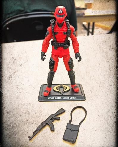 GIJoeCon 2018 Custom Class Red Shadows Trooper - Surveillance Port 2
