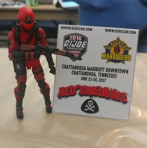 GIJoeCon 2018 Custom Class Red Shadows Trooper - Surveillance Port