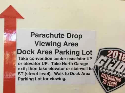 GIJoeCon 2018 Parachute Drop - Surveillance Port