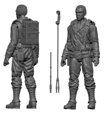 MTF WWII Native American Marine Radioman - Surveillance Port