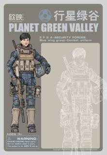 Ouying Studio Planet Green Valley EFSA-Security Forces Blue Wing Group Combat Uniform - Surveillance Port (2)