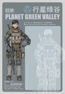 Ouying Studio Planet Green Valley EFSA-Security Forces Blue Wing Group Combat Uniform - Surveillance Port