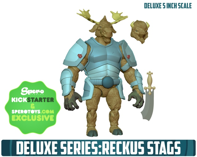 Animal Warriors of the Kingdom Deluxe Series Reckus Stags - Surveillance Port