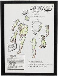 STAR BRIGADE UNPRODUCED FOUR ARMED ALIEN FIGURE ORIGINAL ART LOT BY KURT GROEN (1)