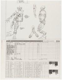 STAR BRIGADE UNPRODUCED FOUR ARMED ALIEN FIGURE ORIGINAL ART LOT BY KURT GROEN (3)
