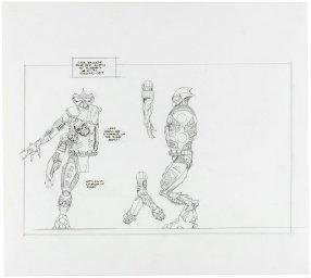 STAR BRIGADE UNPRODUCED FOUR ARMED ALIEN FIGURE SCULPTING INPUT ORIGINAL ART