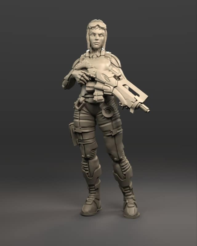 Dark Source – More 1:25th Scale Female Soldier and Exo Suit