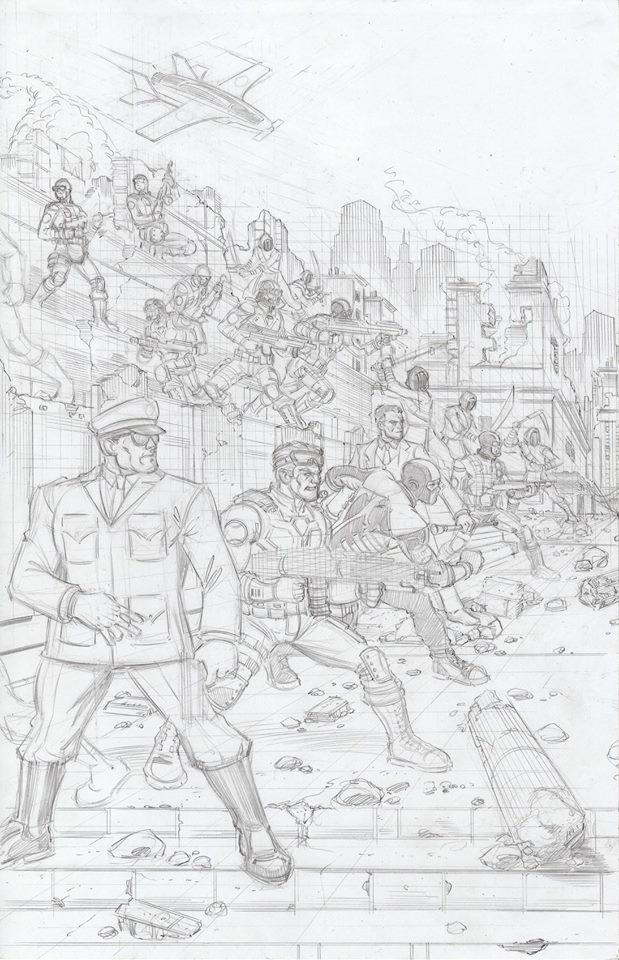Eagle Force Handbook vol 101 Double Page Cover - Surveillance Port