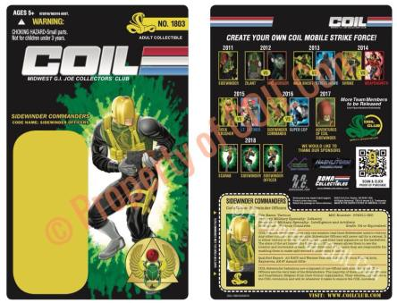 Coil Con Scarab Strikes Sidewinder Officer Card - Surveillance Port