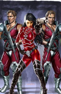 G.I. JOE - Baroness with Xamot and Tomax - Surveillance Port