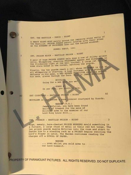 G.I.Joe Rise of Cobra Screenplay Larry Hama Autograph 02 - Surveillance Port