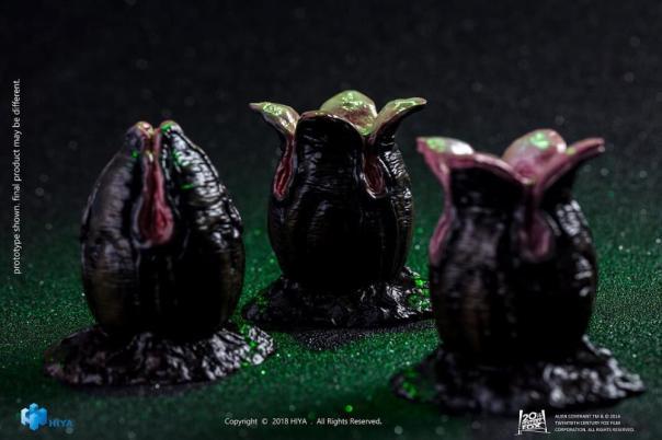Hiya Toys Alien Convenant Egg and Facehugger Set - Surveillance Port (02)