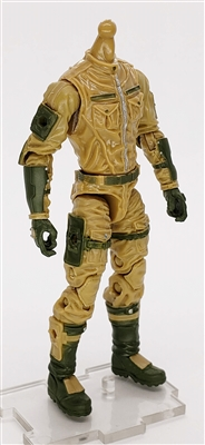 MGR 08 MTF Male Trooper Body WITHOUT Head DARK TAN with Green Assault-Ops CLOTH Legs - Surveillance Port