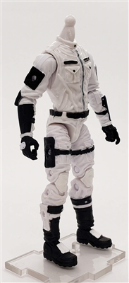 MGR 10 MTF Male Trooper Body WITHOUT Head WHITE with BLACK Ghost-Ops CLOTH Legs - Surveillance Port