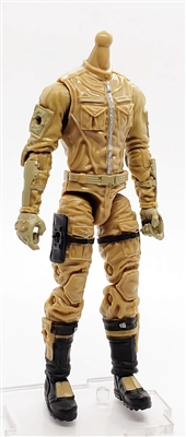 MGR 11 MTF Male Trooper Body WITHOUT Head DARK TAN with Tan Havoc-Ops CLOTH Legs - Surveillance Port