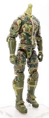 MGR 12 MTF Male Trooper Body WITHOUT Head OLIVE GREEN CAMO Ambush-Ops Armor Leg Version BASIC - Surveillance Port