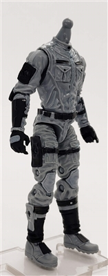 MGR 13 MTF Male Trooper Body WITHOUT Head GRAY with Black Tech-Ops CLOTH Legs - Surveillance Port