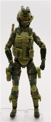 MGR 14 MTF Male Trooper Body WITHOUT Head GRAY with Black Tech-Ops CLOTH Legs - Surveillance Port