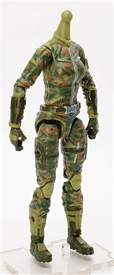 MGR 15 MTF Female Valkyries Body WITHOUT Head OLIVE GREEN CAMO Ambush-Ops - Surveillance Port