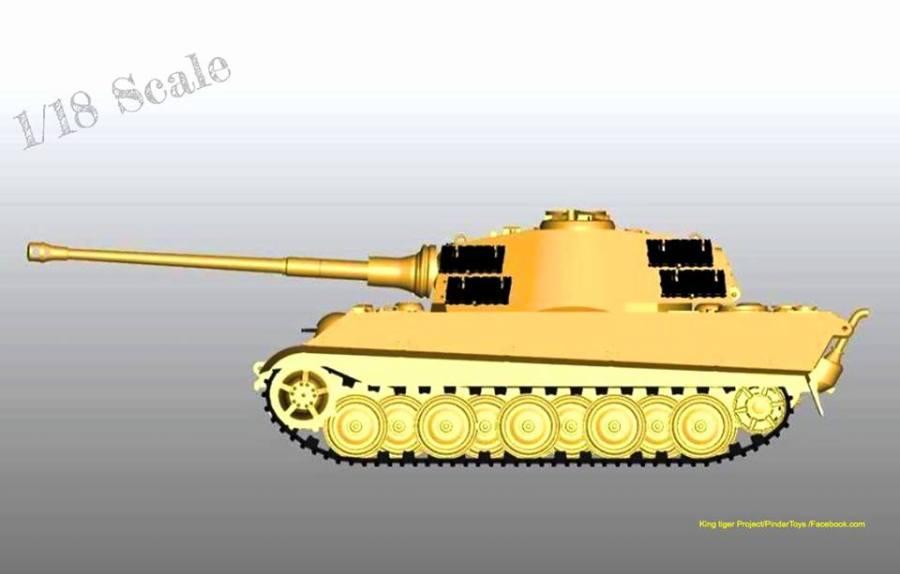 Pindar Toys King Tiger Tank - Surveillance Port