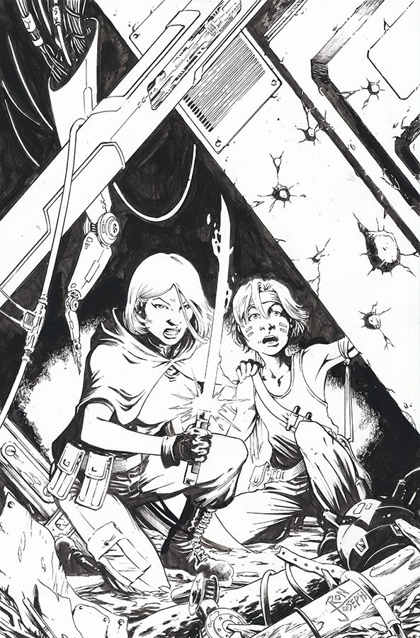 Ron Joseph GI Joe 257 Cover Inks - Surveillance Port