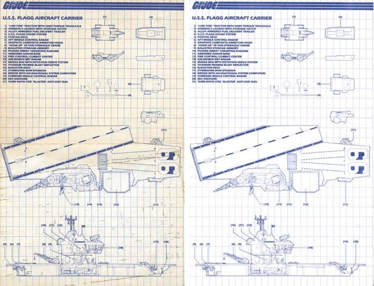 3DJoes USS Flagg Blueprint Restoration - Surveillance Port