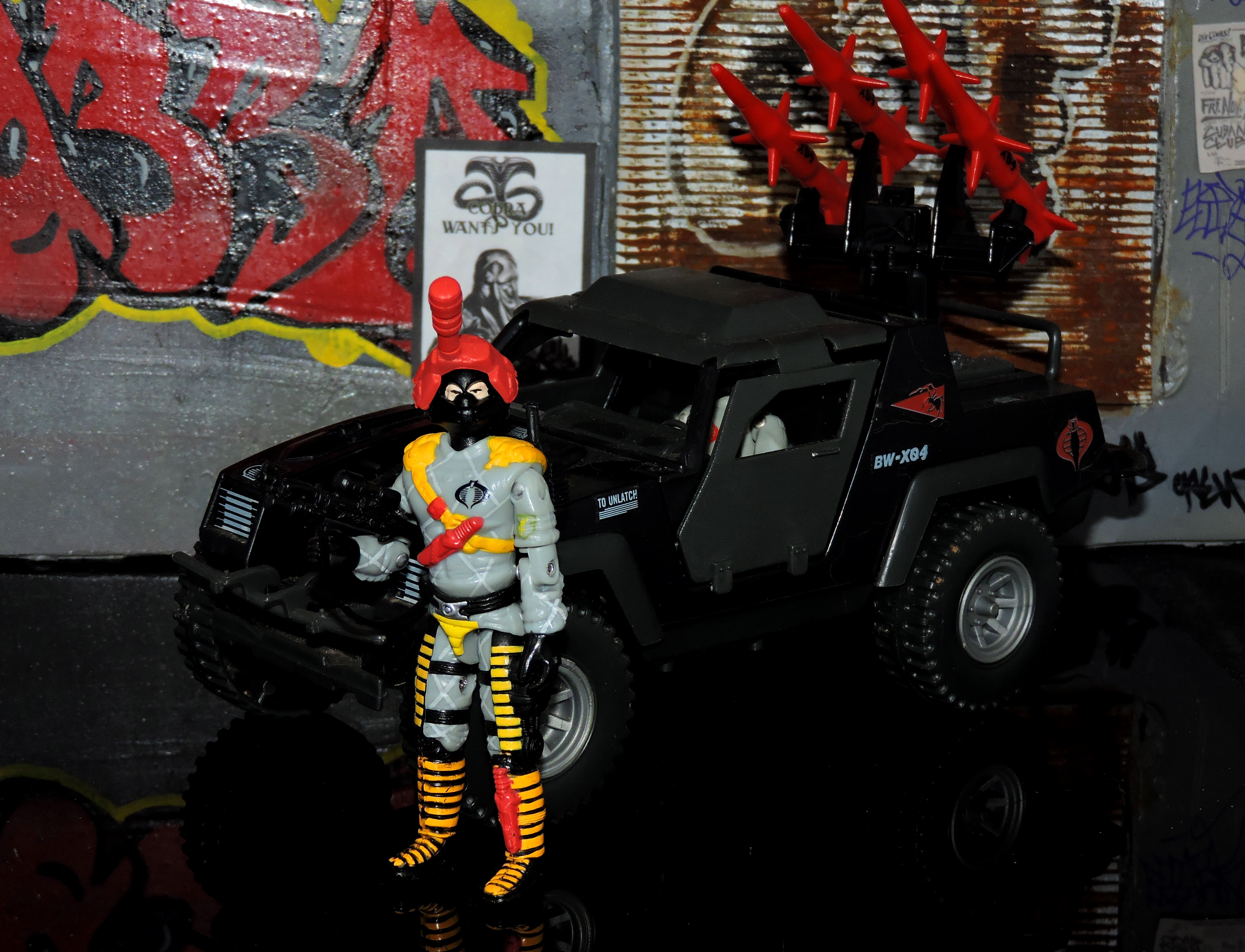 GI JOE CUSTOM BLACK MAJOR RED LASER NIGHT VIPER