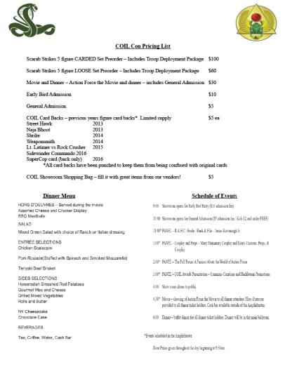 Coil Con price sheet - Surveillance Port