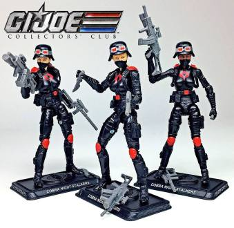 G.I.Joe Collectors Club Cobra Night Stalkers 3 Pack - Surveillance Port (1)