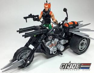 GIJCC Ninja Force Zartan with Cycle - Surveillance Port 07
