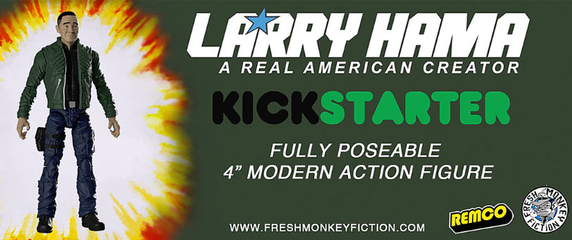 Larry Hama Kickstarter Banner - Surveillance Port