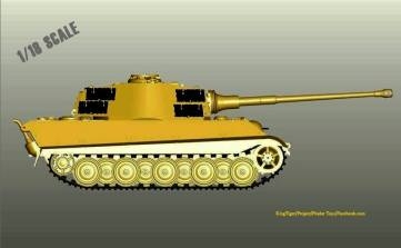 Pindar Toys King Tiger Tank - Surveillance Port 02