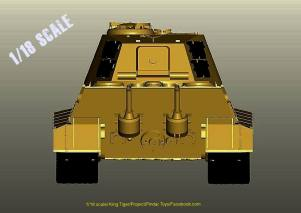 Pindar Toys King Tiger Tank - Surveillance Port 03