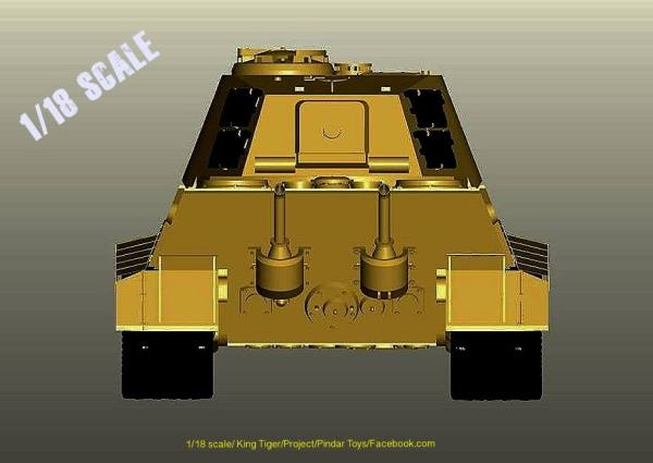 Pindar Toys shares more 3D Designs of 1:18 Scale King Tiger Tank on