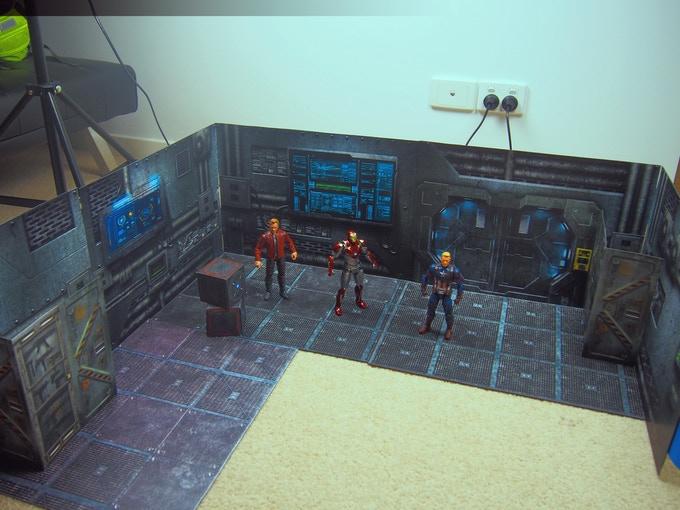 Printable DIY CX Dioramas - Surveillance Port 06