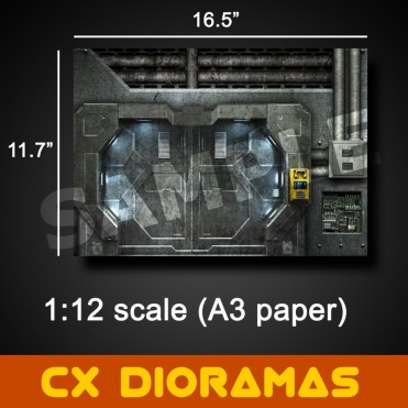 Printable DIY CX Dioramas - Surveillance Port 07