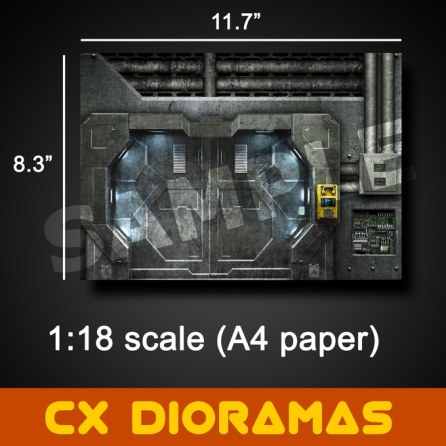 Printable DIY CX Dioramas - Surveillance Port 08