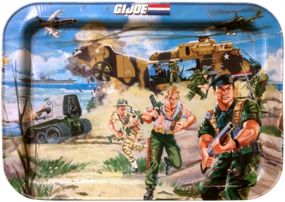 1987 gi joe dinner tray 3d joes - surveillance port