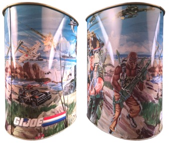 1987 gi joe trash can 3d joes - surveillance port