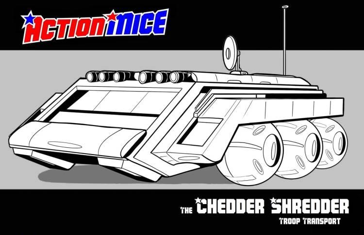 Action Mice Cheddar Shredder Troop Transport - Surveillance Port
