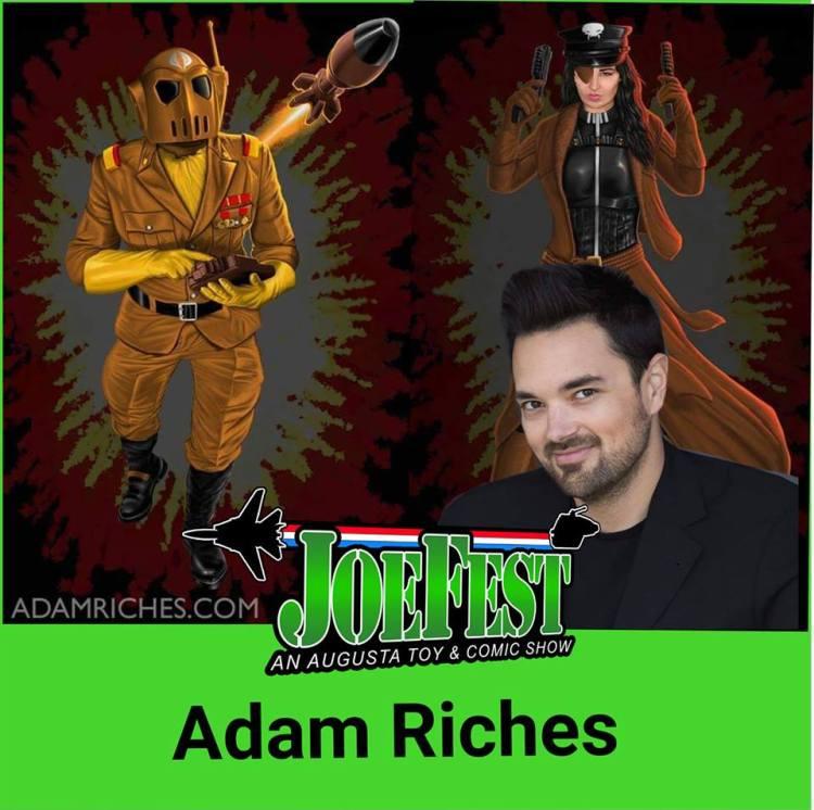 joefest toy and comic show adam riches banner - surveillance port