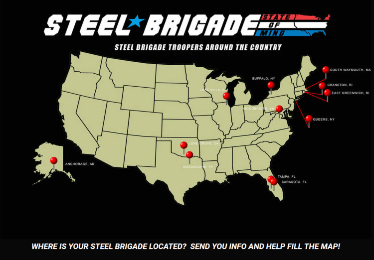 steel brigade tracker map - surveillance port