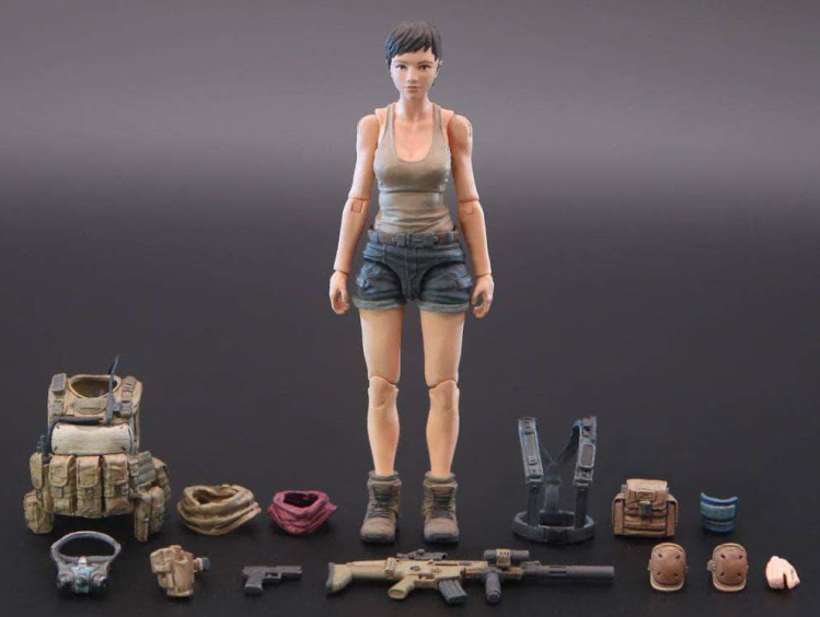 Planet Green Valley EFSA Security Forces Blue Wing Group Virginie 118 Scale Figure - Surveillance Port 01