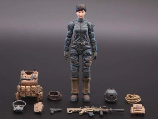 Planet Green Valley EFSA Security Forces Combat Uniform 118 Scale Figure - Surveillance Port 01