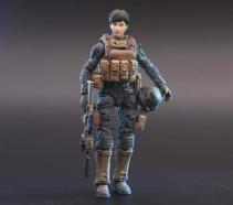 Planet Green Valley EFSA Security Forces Combat Uniform 118 Scale Figure - Surveillance Port 02